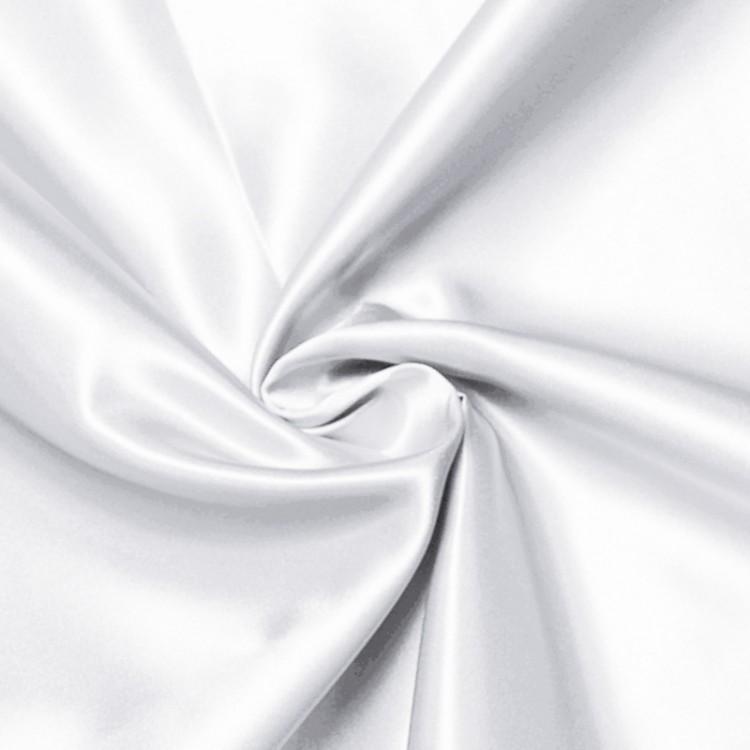 Raso con cuerpo blanco por metro