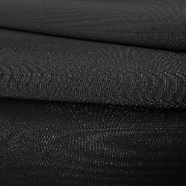 Lycra brillante negro por rollo