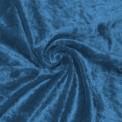 Tela de terciopelo martele color azulina por rollo