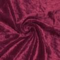 Tela de terciopelo martele color burdeos por rollo