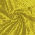 Tela de terciopelo martele color amarillo por rollo