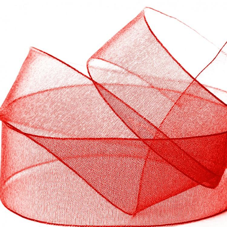 Cinta organdi roja