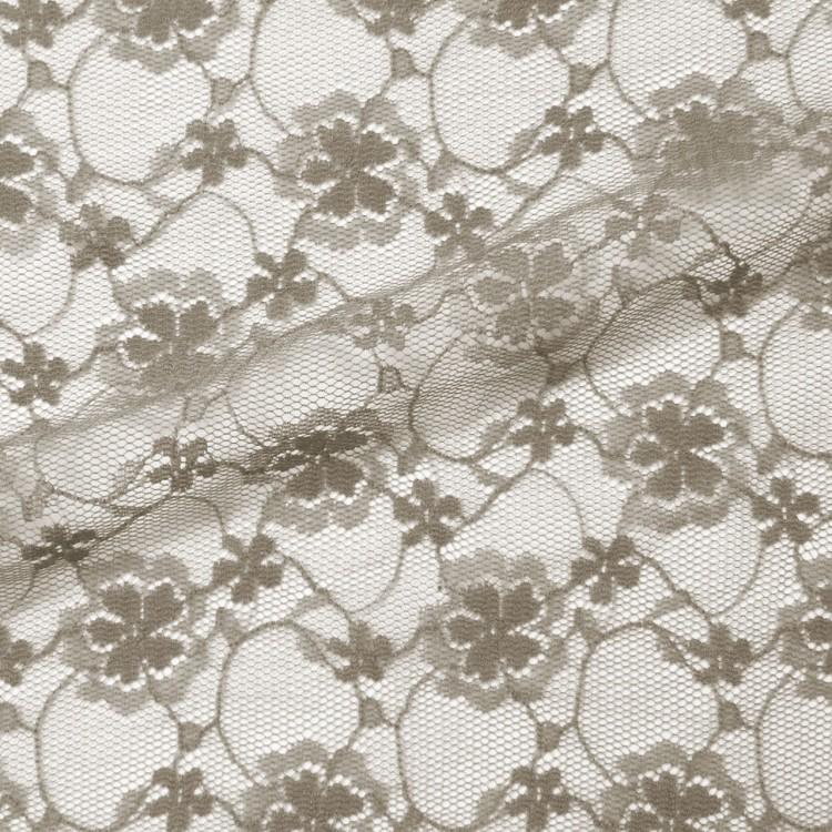 Encaje flower marrón ligero