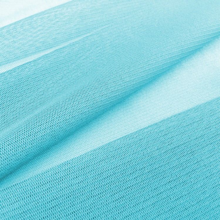 Tejido elástico imitación gamuza con hoja material-Azul Cielo