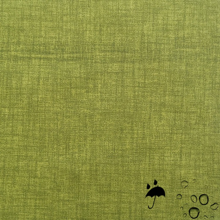 Tela resinada anti-manchas verde