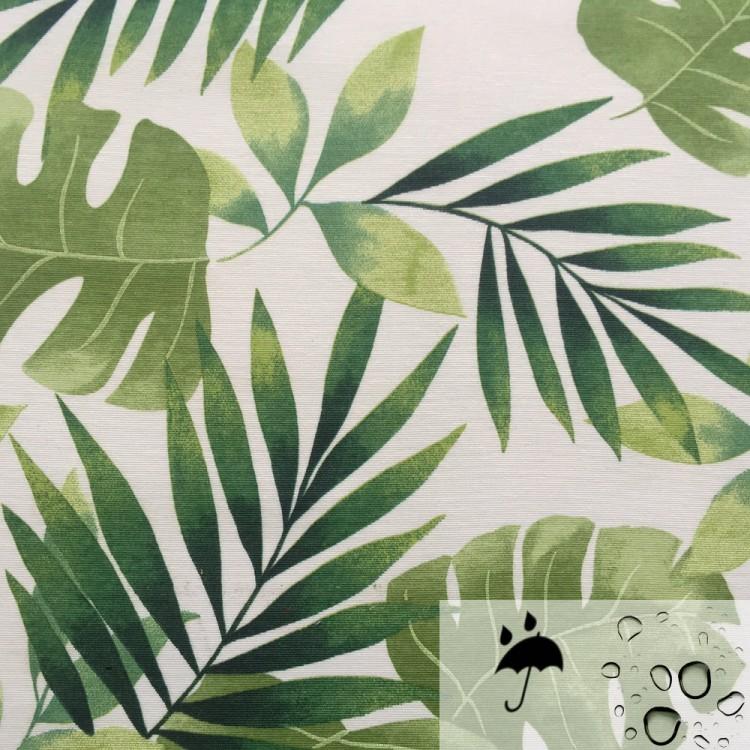Tela resinada anti-manchas estampado tropical