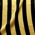 Raso estampado carnaval rayas amarillo/negro