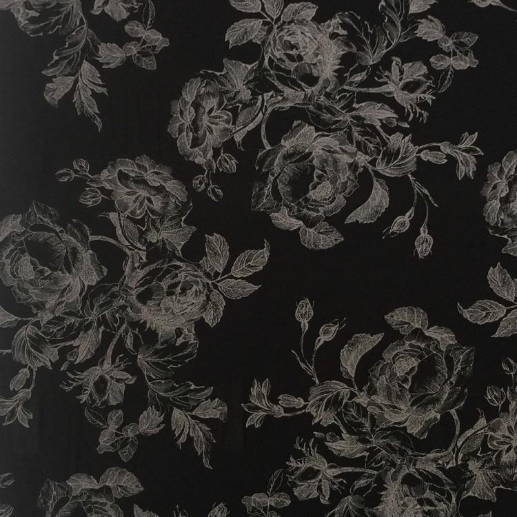 viscose print floral negro