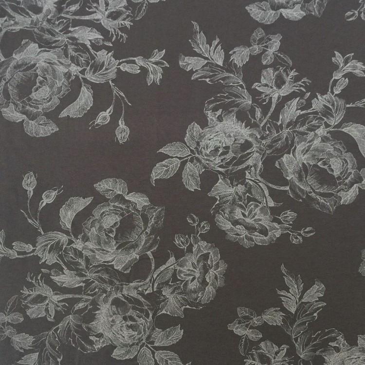 viscose print floral gris