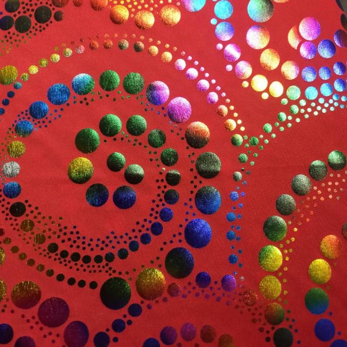Lycra spiral multicolor