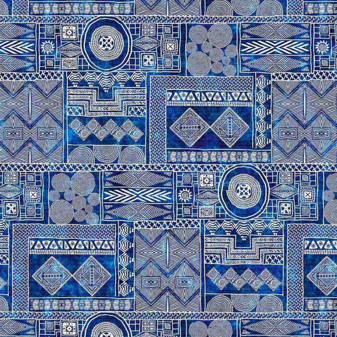 Algodón estampado batik africa
