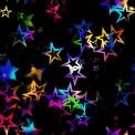 Lycra estampada estrellas multicolor