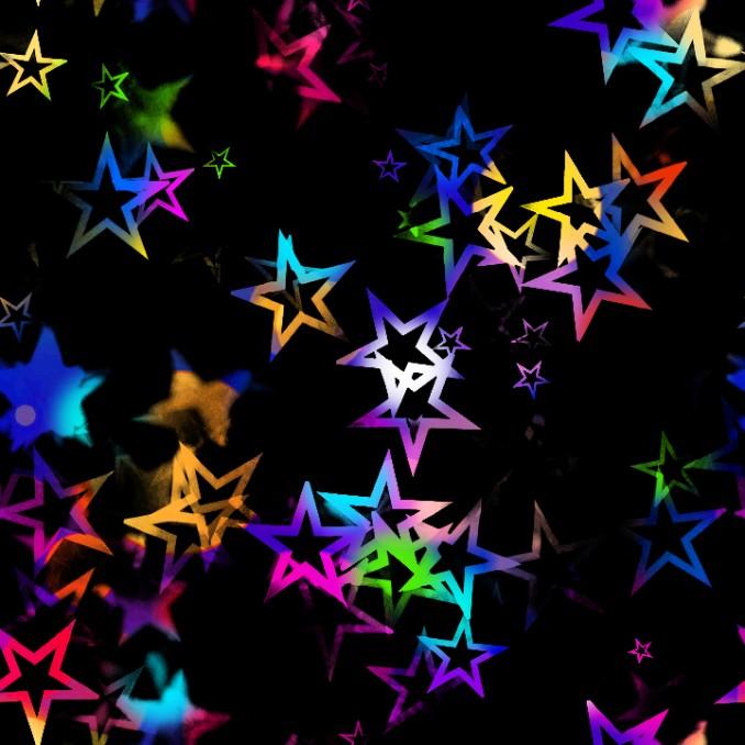 Lycra estampada estrellas