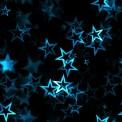Lycra estampada estrellas turquesa