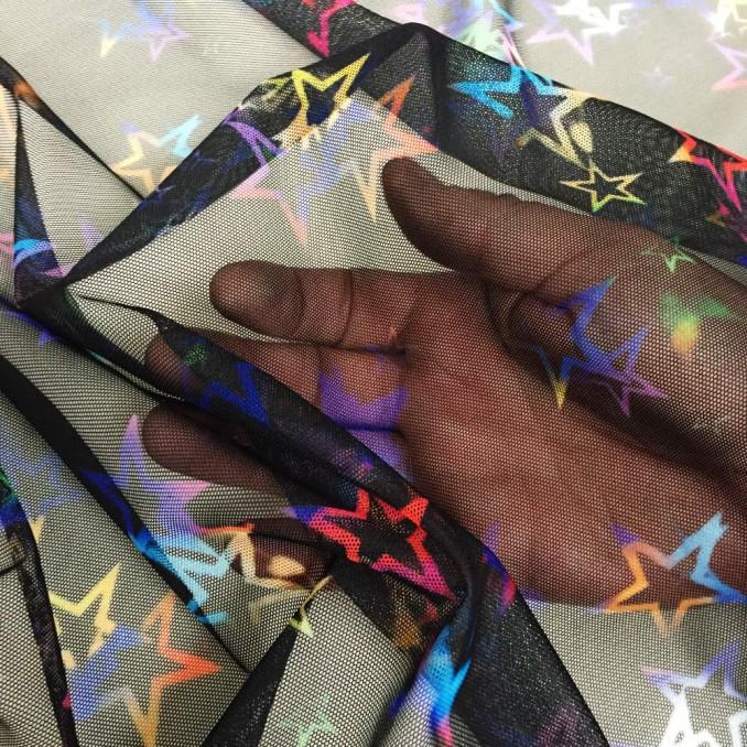 Tulle lycra estrellas