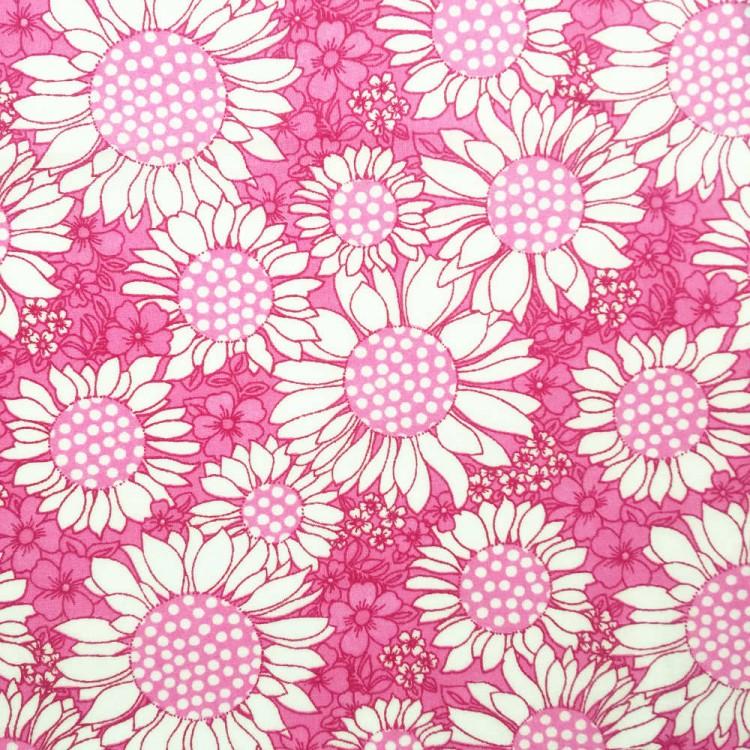 Batista de algodón | girasol rosa