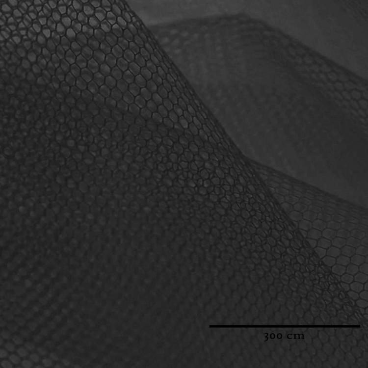 Tul doble ancho (300 cm) negro