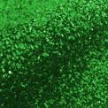 Rizo gliter verde por metro