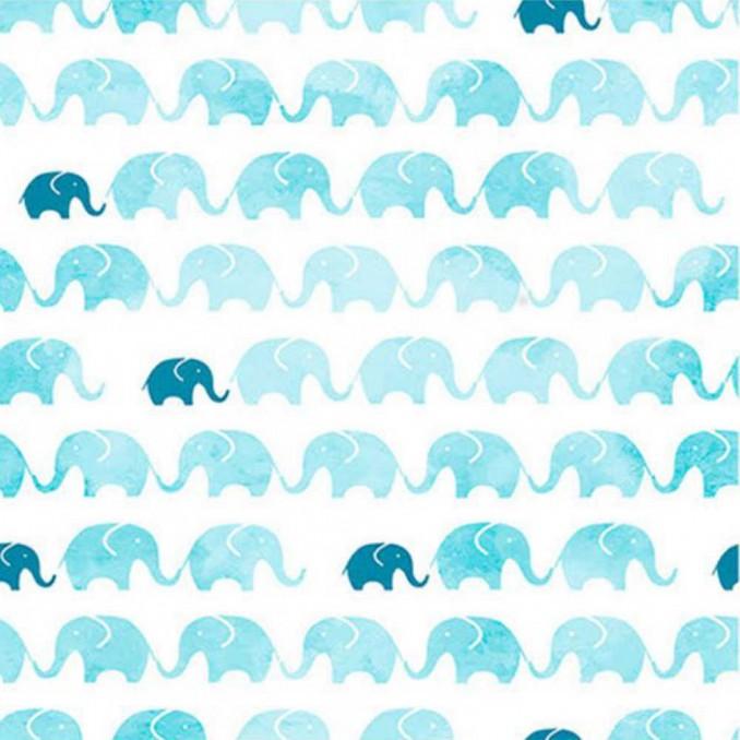 Algodón estampado elefante