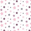 Algodón estampado estrellas infantiles