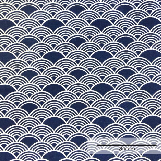 Algodón doble ancho olas japoneses