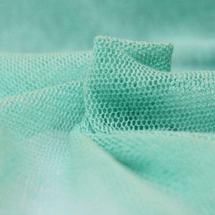 Tul algodón verde agua