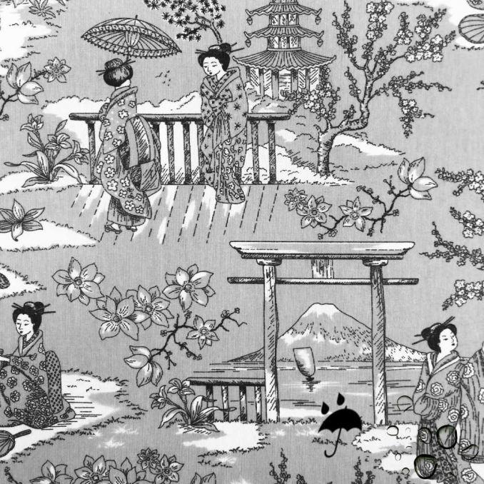 Tela resinada anti-manchas geisha