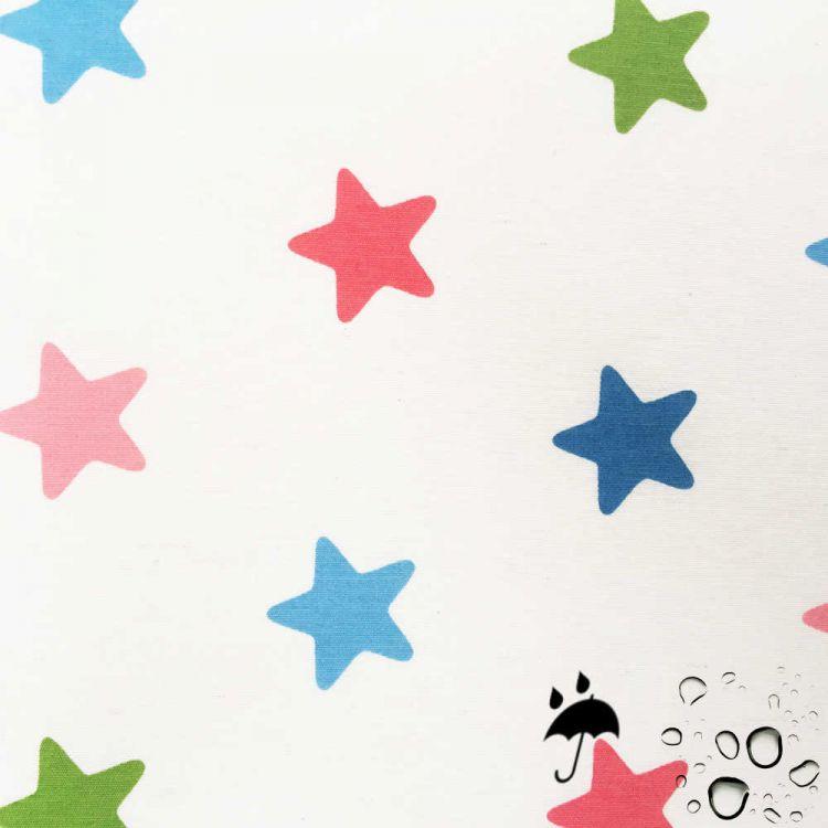 Tela resinada anti-manchas estrellas