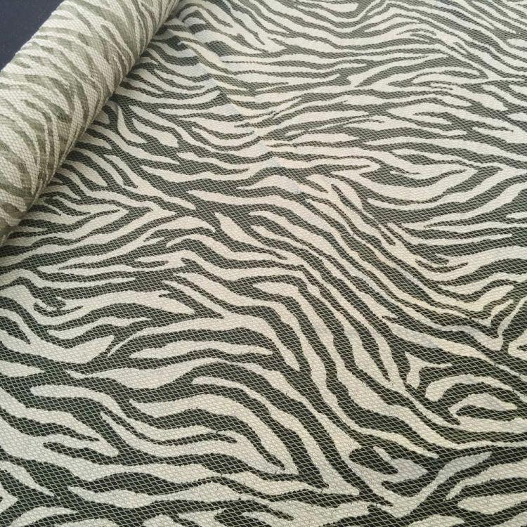 Encaje zebra verde oliva
