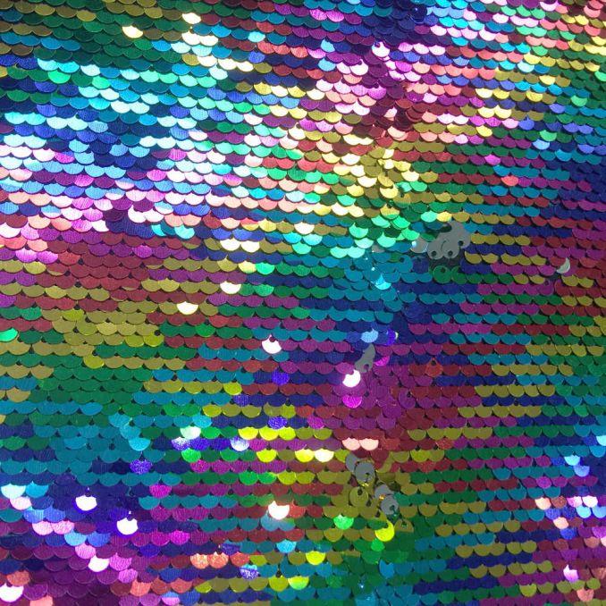 Lycra lentejuelas multicolor reversible