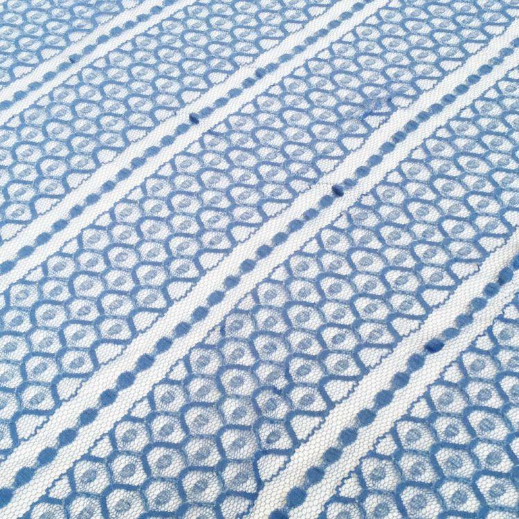 Encaje hexagonal azul