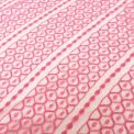 Encaje hexagonal rosa