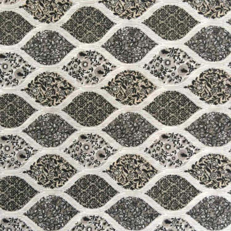 Algodón estampado geometria floral