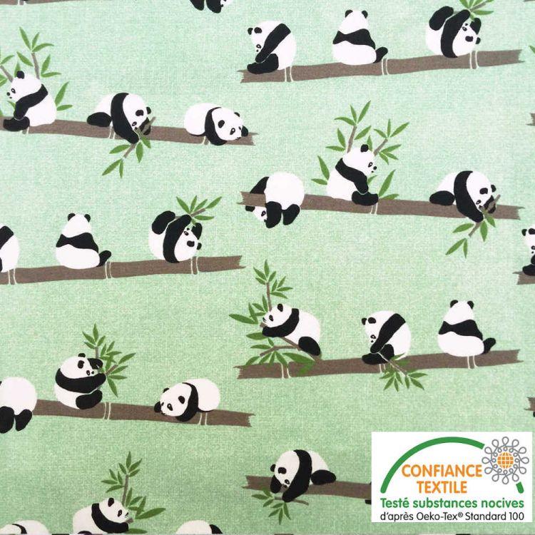 Algodón estampado PANDA