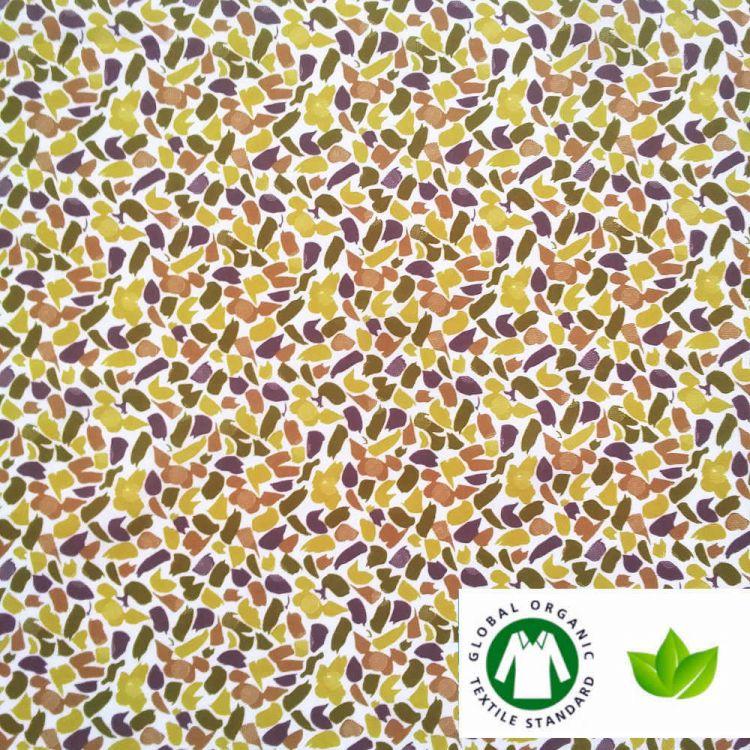 Algodón ECO estampado cuadros GRIS/AZUL