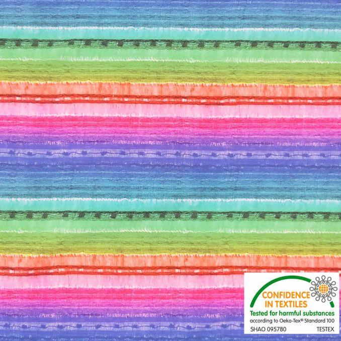Lycra estampada arco iris