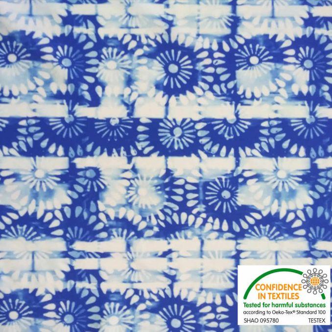 Lycra mosaica azul