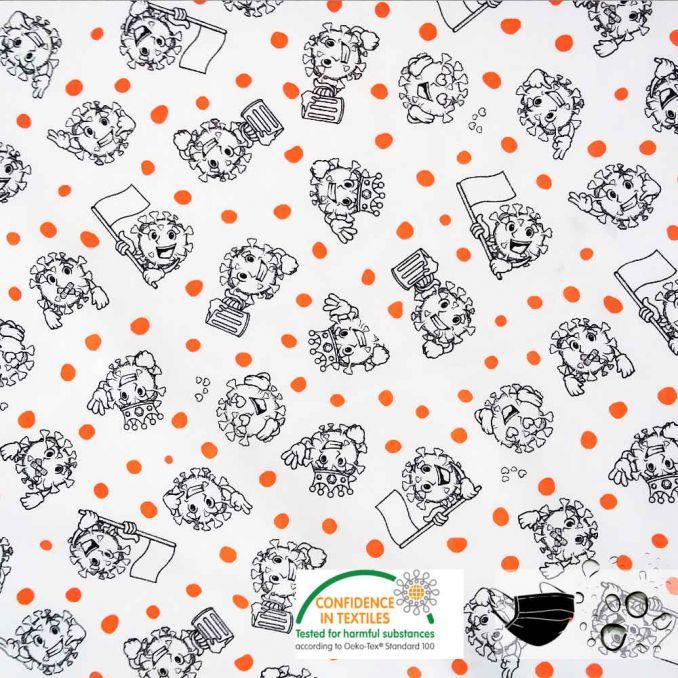 Algodón hidrofugo VIRUS | tela para MASCARILLAS