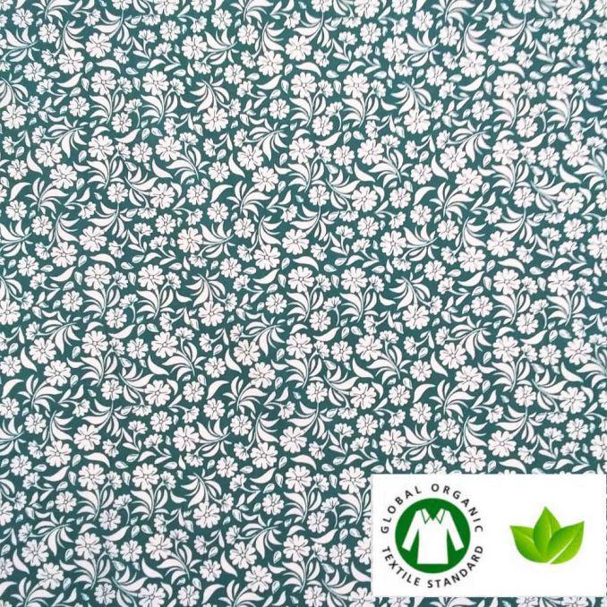 Algodón ECO jardin esmeralda