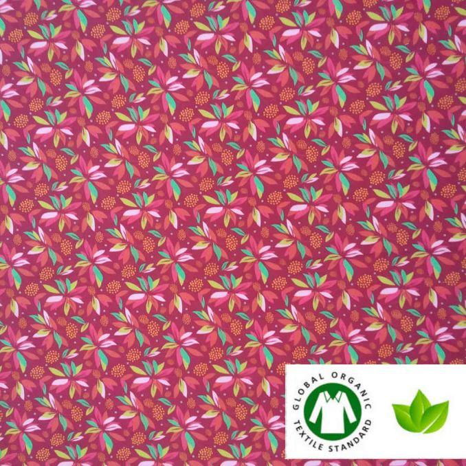 Algodón ECO tropical frambuesa