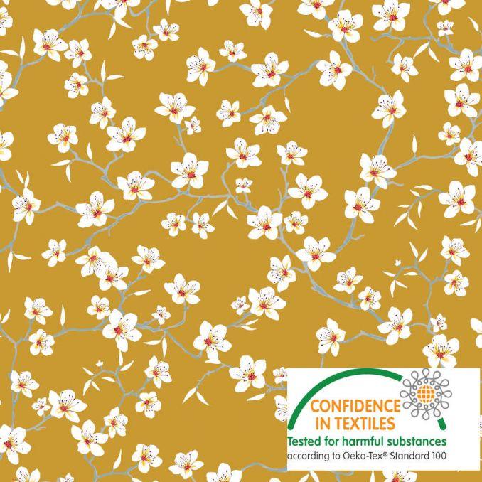 Algodón Flor japonesa safran