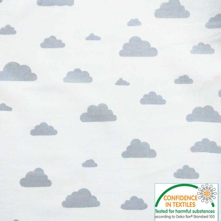 Algodón estampado Nubes