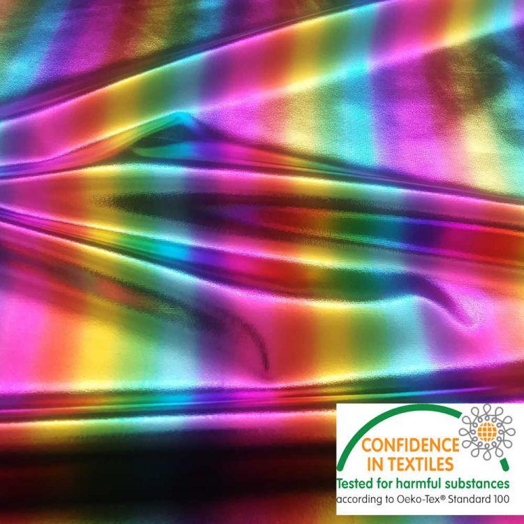 Lycra metal arco iris