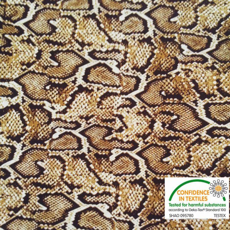 Lycra Serpiente marrón
