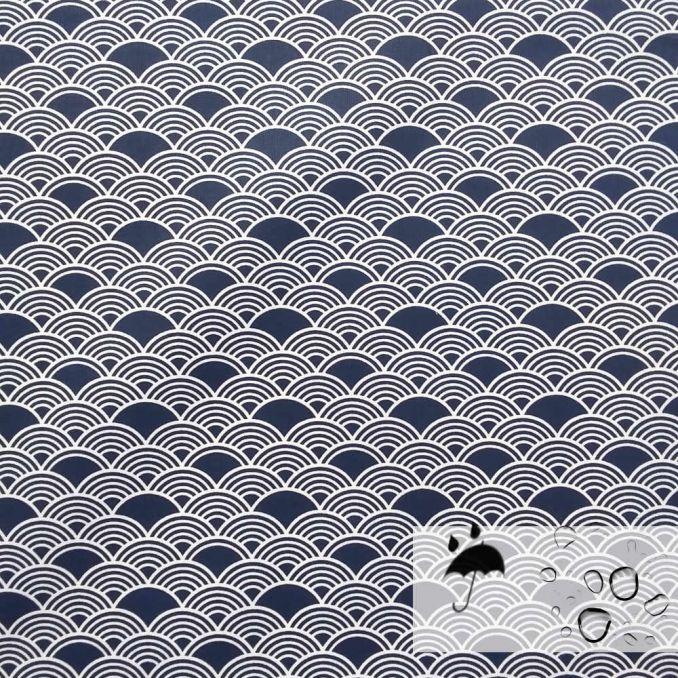 Algodón resinado fluido ola japonesa