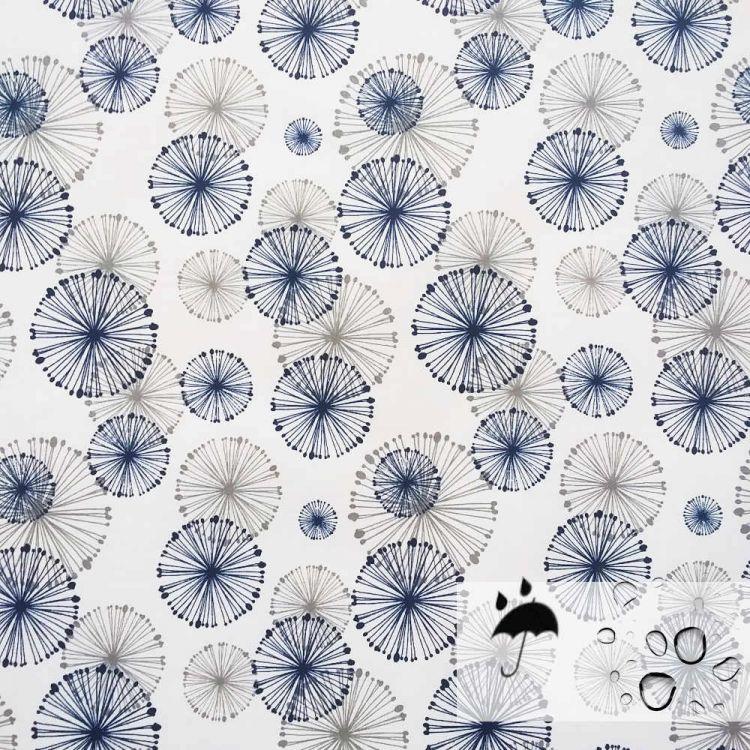 Algodón resinado fluido circulos japoneses